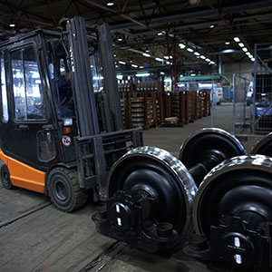 Train wheels at Swemaint