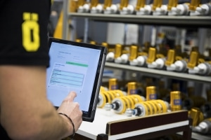 Öhlins racing uses Novacura Flow for it´s logistics process