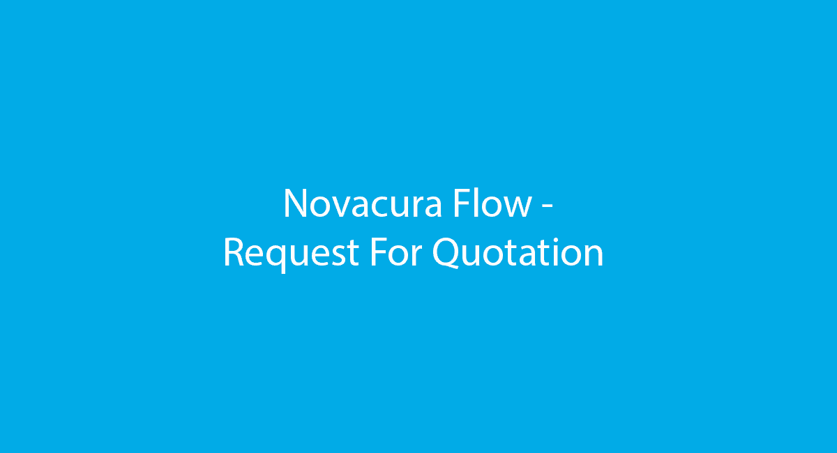 Novacura Flow - Request For Quotation demo