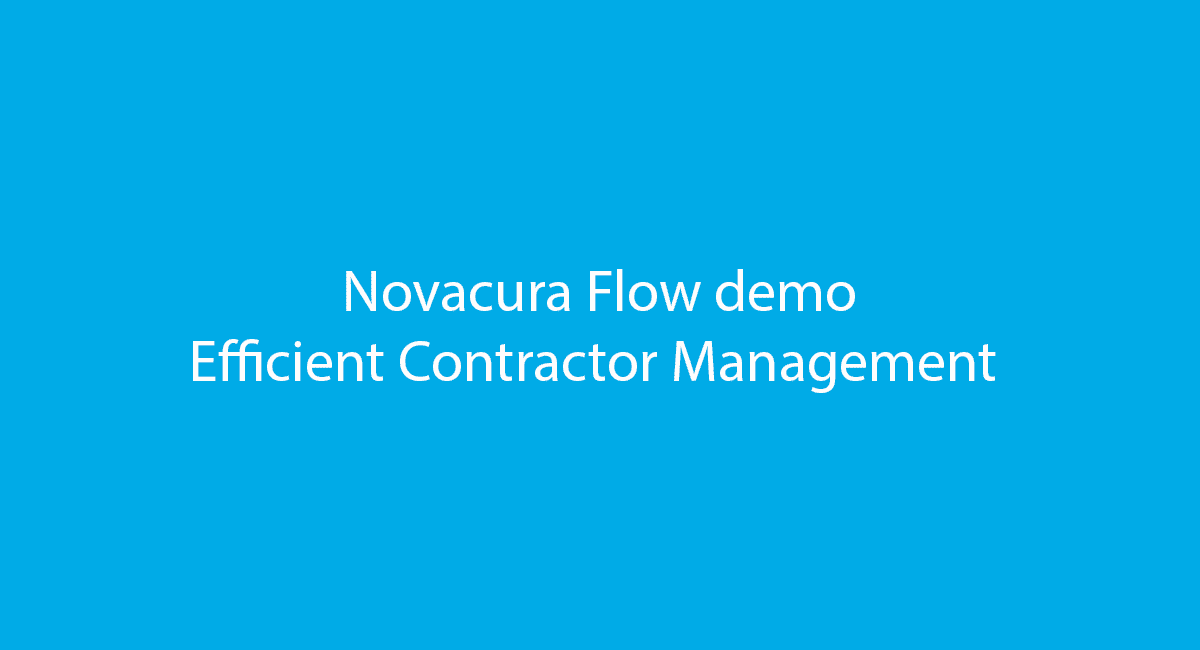 Novacura Flow efficient contractor demo